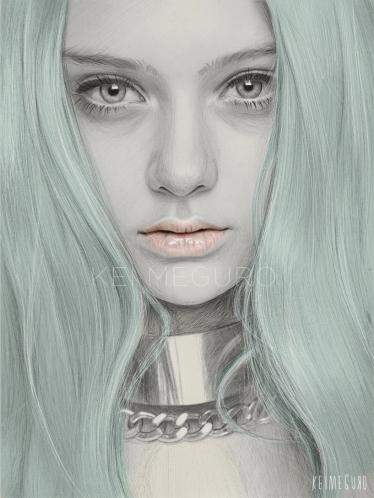 kei-meguro-amazing-pencil-illustration-portraits-3