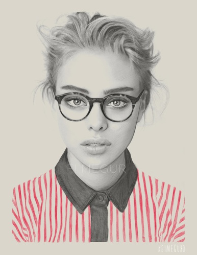 kei-meguro-amazing-pencil-illustration-portraits-4