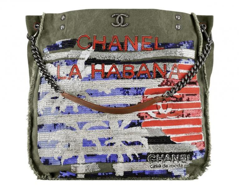 Chanel-Cuba-Khaki-embroidered-toile-shopping-bag-770x599